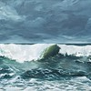 """""""Waves"""" (oil on canvas) by Natalia Marinych"""