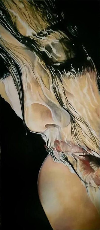 """Overwhelmed"" (organic soft pastels) by J Howard"