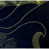 """Wave Power 2"" (linocut) by Barbara Milman"