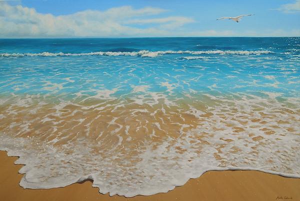 """""""Foam"""" (oil on canvas) by Marta Galindo"""