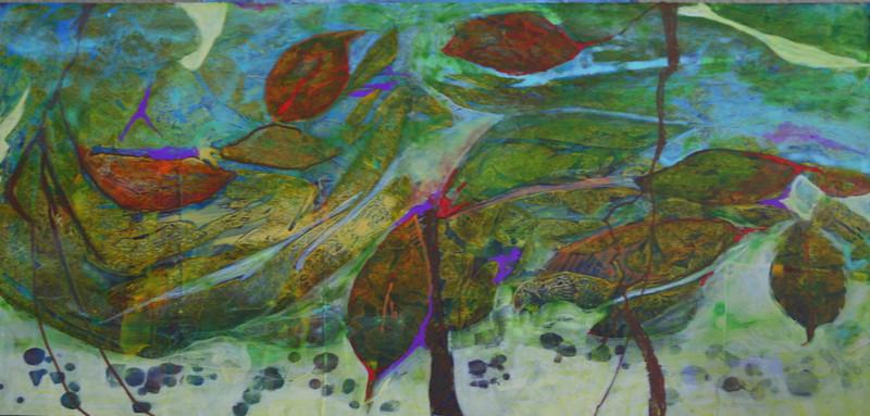 """Wet Spring"" (acrylics) by Lynn Chatman"