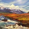 """""""The river"""" (oil) by Anastasia Strizhkova"""