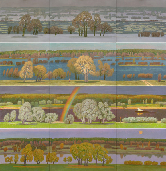 """Seasons"" (oil on canvas) by Valery Sidorkin"