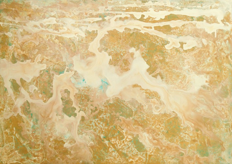 """Cimmaron Flow"" (acrylic on canvas) by Irene Hurdle"