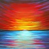 """Sunrise"" (acrylic on canvas) by Dmytro Yeromenko"