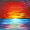 """Sunrise"" (acrylic on canvas) by Dmytro Yeromenko"