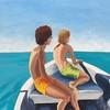 """""""Horizons"""" (acrylic on canvas) by MK Wynn"""