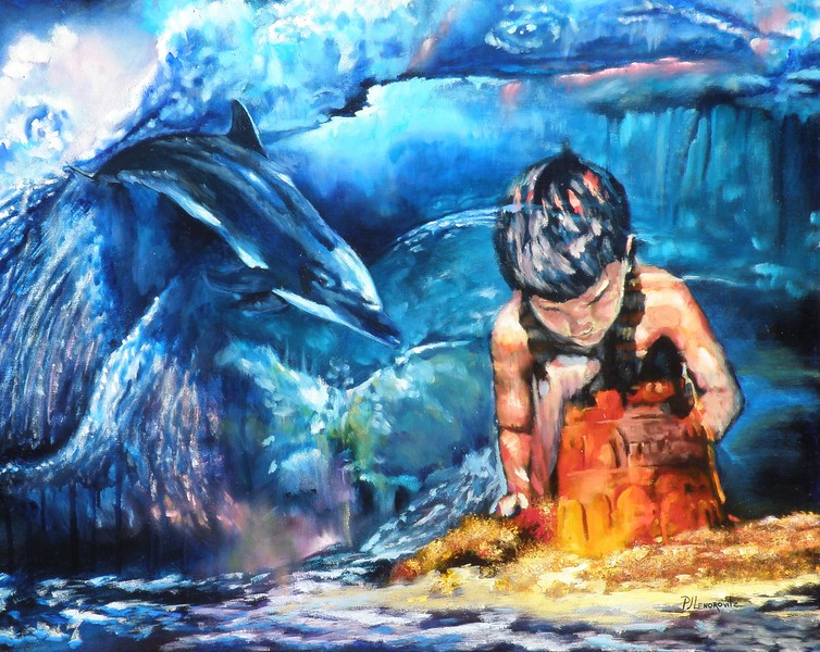 """Guardians"" (oil) by PJ Lenorovitz"