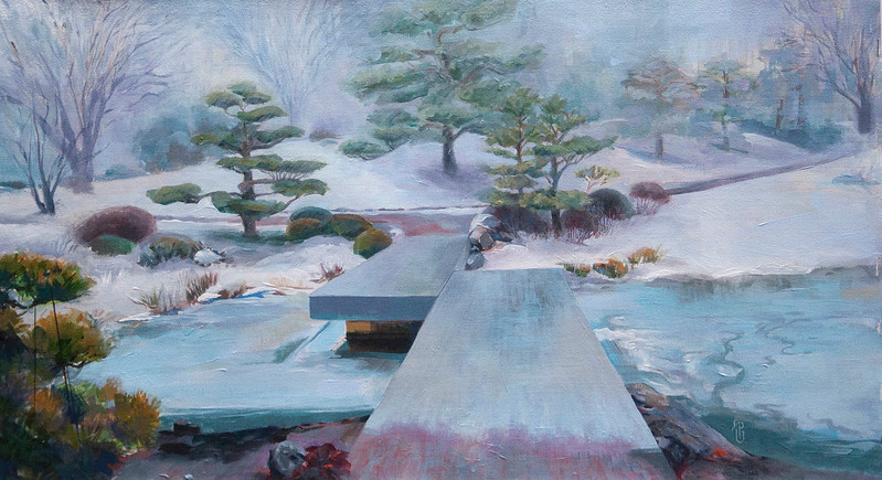 """ZigZag in Winter"" (acrylic on linen) by Polly Greathouse"