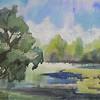 """On The Pond"" (watercolor) by Linda Vinogradova"