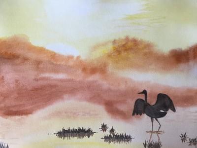 """""""Dawn"""" (watercolor) by Olga Fedorovskaya"""