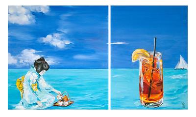 """""""Tea"""" (oil on linen) by Polly Greathouse"""