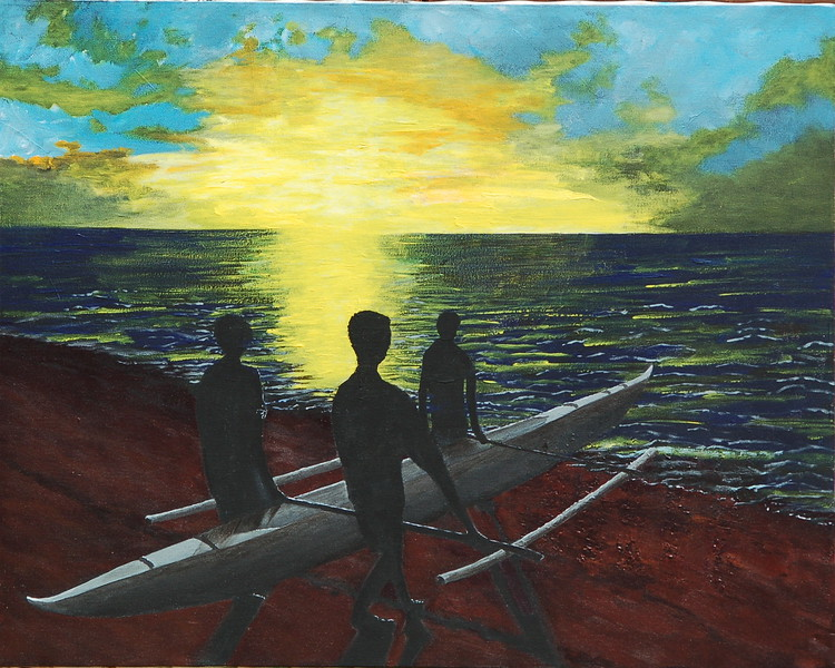 """We Leave at Dawn"" (acrylic) by Tricia Hoye"