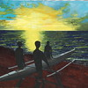 """""""We Leave at Dawn"""" (acrylic) by Tricia Hoye"""