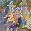"""""""By the river"""" (gouache) by Mariia Chernyshova"""