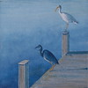 """Waterbirds Greet the Morning"" (oil on canavas) by Louis Degni"