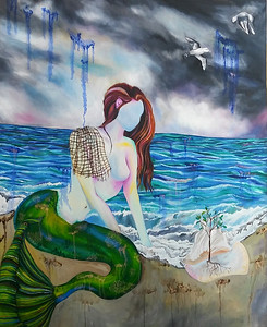 """""""Into the Waves"""" (oil) by Angel Atkinson"""