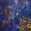 """""""Mysterious Blue"""" (acrylic on canvas) by Emil Sennholz"""