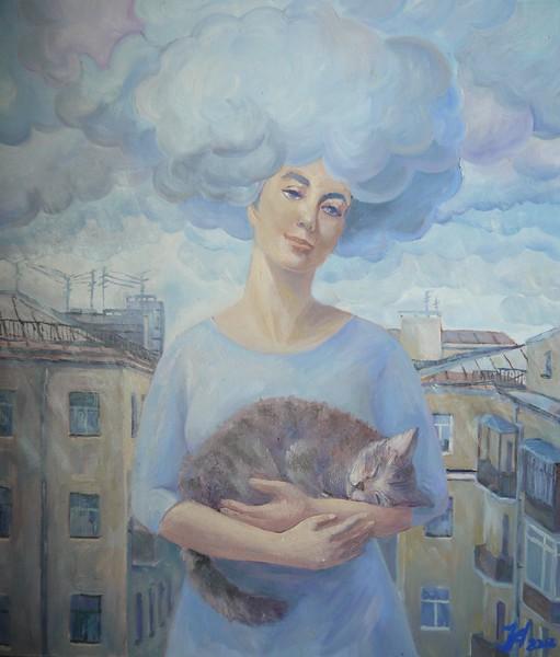 """""""Saint-Petersburg's rain"""" (oil on canvas) by Nadezhda Aristaeva"""