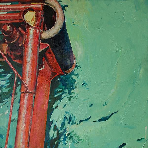 """Pier"" (oil on canvas) by Andrey Novikov"
