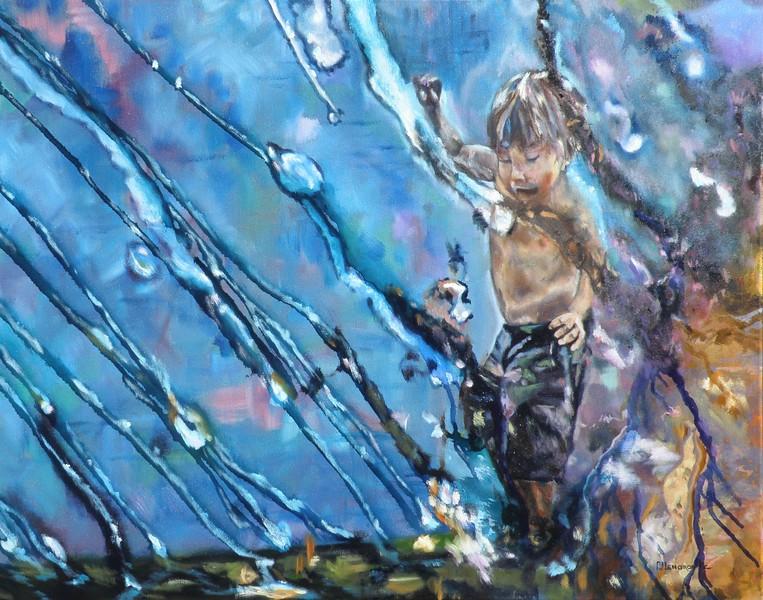 """""""Waterworks"""" (oil) by PJ Lenorovitz"""