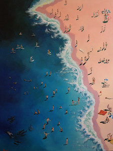 """Modern Sea"" (acrylic on canvas) by Sho Kang"