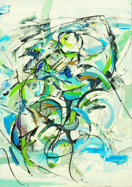 """Source of Energy"" (oil, coal, canvas, wooden base) by Olya Kartavaya"