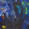 """""""Wondrous Blue"""" (acrylic on canvas) by Emil Sennholz"""