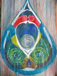"""A drop of the universe"" (paint) by Evgeniya Fomenko"