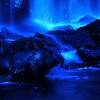 """Blue Glow Waterfall"" (photography) by Andrew Davis"
