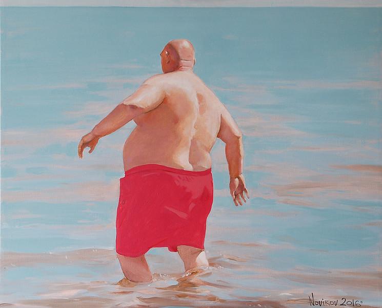 """Swim"" (oil on canvas) by Andrey Novikov"