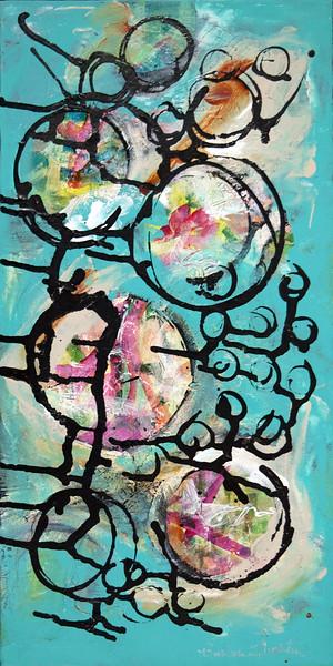 """Aquasphere"" (acrylic on canvas) by Barbara Martin"