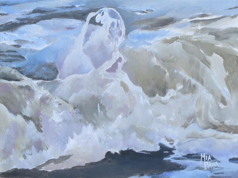 """Water Lily"" (acrylic on board) by Mia Baila"