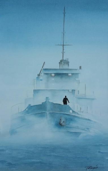 """SEE TO SEA"" (watercolor) by Telagio Baptista"