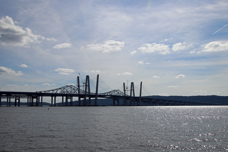 """Old and New Tappan Zee"" (photography) by Kathy Brady"