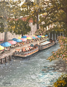 """River Walk"" (oil on panel) by Crista Bromley"