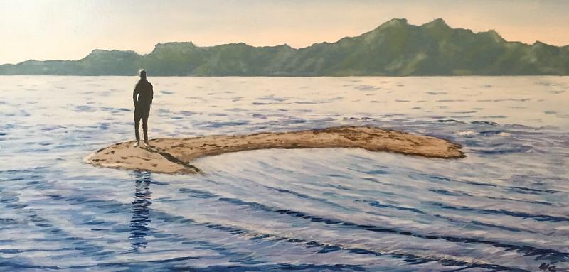 """Global Warming"" (oil on board) by Heike Gramckow"