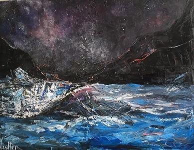 """The depth of the soul"" (oil with palette knife) by Kristina Nestler"
