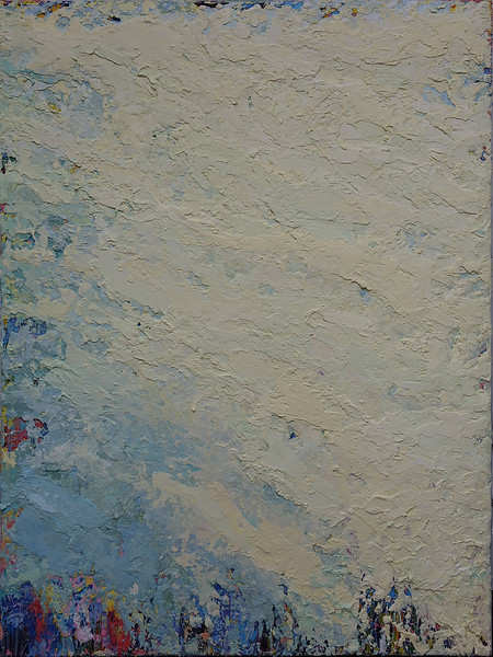 """""""Tide"""" (oil and marble dust on canvas) by Inez Berinson Blanks"""