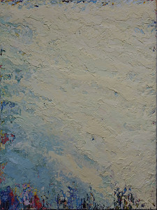 """Tide"" (oil and marble dust on canvas) by Inez Berinson Blanks"