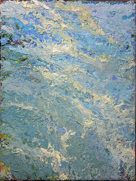 """""""Rockpool"""" (oil and marble dust on canvas) by Inez Berinson Blanks"""