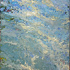 """Rockpool"" (oil and marble dust on canvas) by Inez Berinson Blanks"
