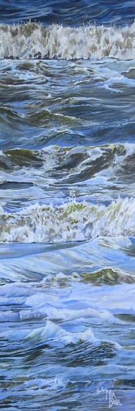 """Restless Waves"" (acrylic on canvas) by Mia Baila"