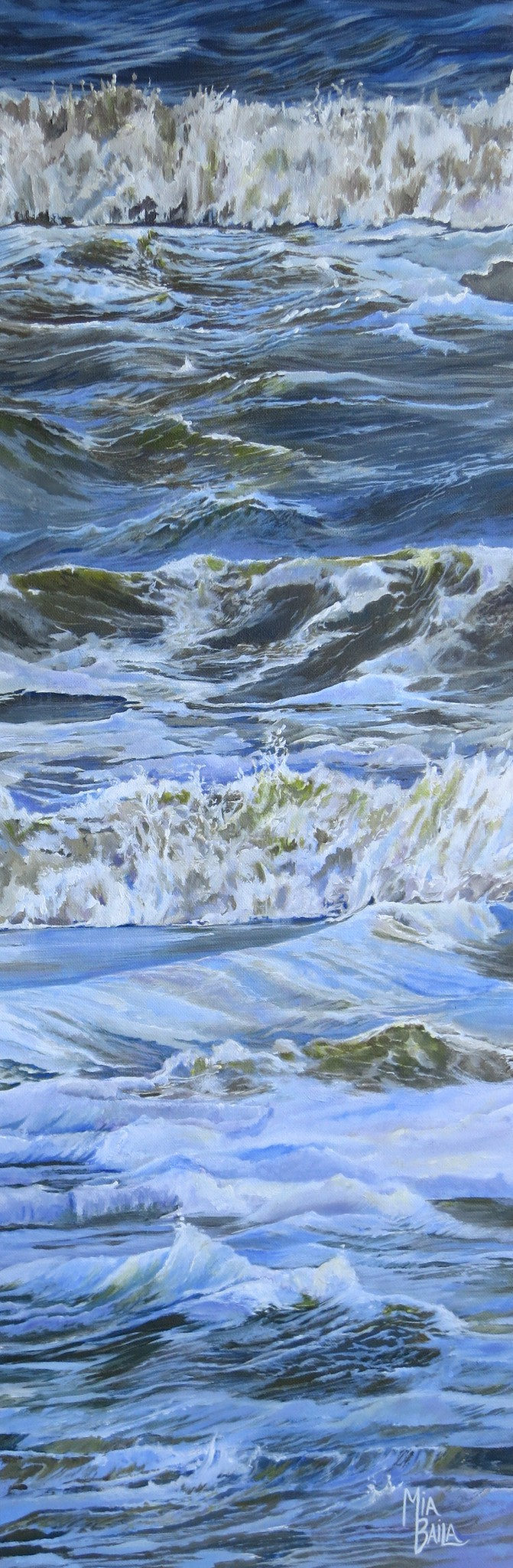 """Restless Waves"" (acrylic on canvas) by Mia Baila"