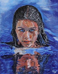 """Marina Of the Sea"" (colored pencil, pastel) by Marina Cappalli"