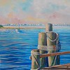 """Moorings"" (acrylic) by Joy Parks Coats"