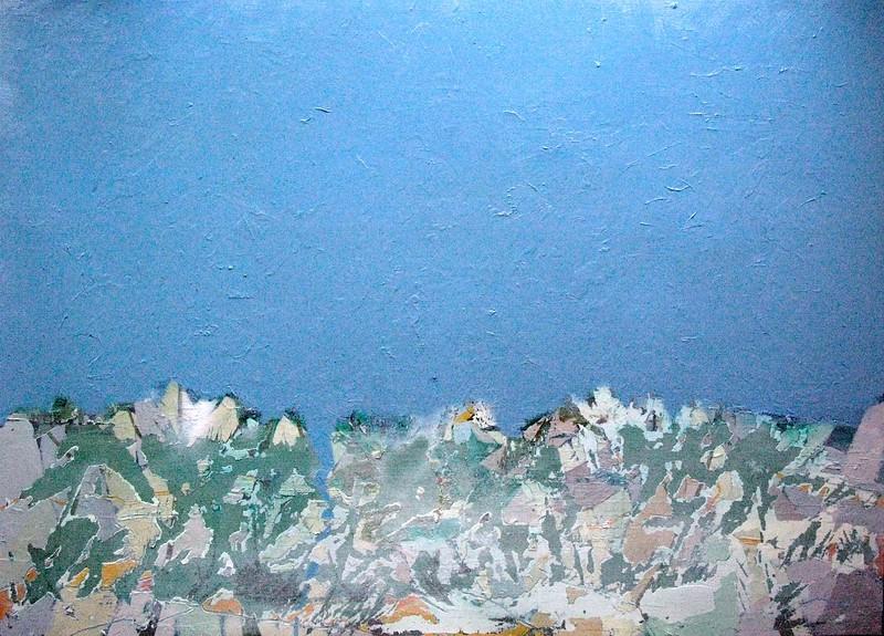 """""""Waterway"""" (oil on panel) by Marina Surovikova"""