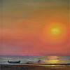 """Goan Sunset"" (oil on canvas) by Anna Tokmakova"