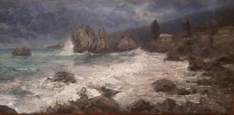 """""""The Chehov Bay"""" (oil on canvas) by Anastasia Shchapova"""