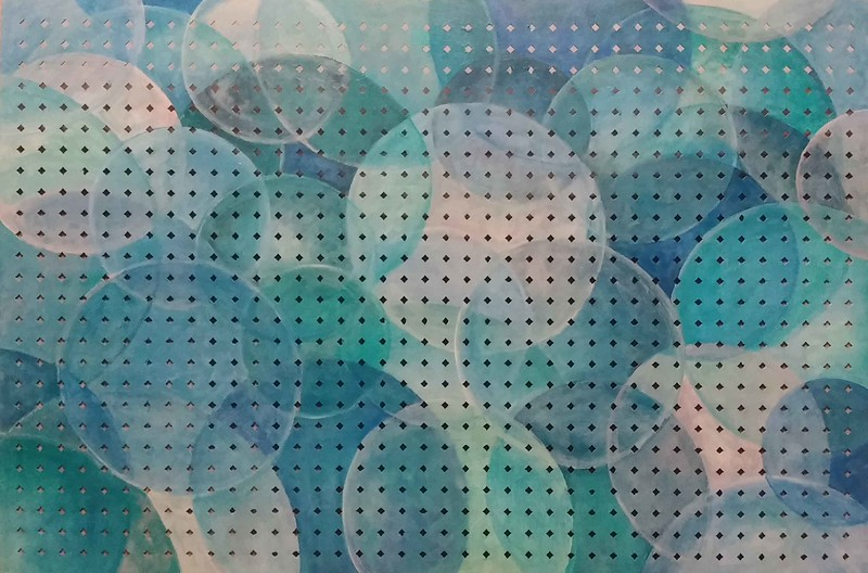 """""""Water balls"""" (acrylic on hardboard) by Andrey Meshcheryakov"""